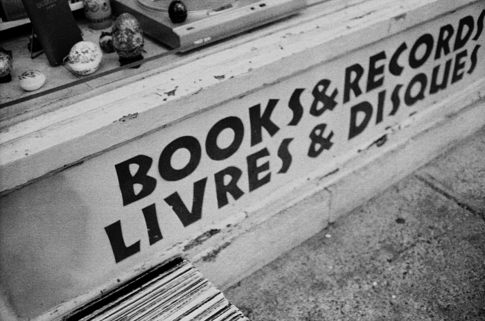 Part of the frontage of Librairie Encore, on Sherbrooke Street in Montreal, Que., on Saturday, Nov. 21, 2015. The family-run bookstore opened in 2004 and is specialize in sale and purchase books of all kinds, but also records and DVD. (Marie-Pierre Savard / JOUR523)